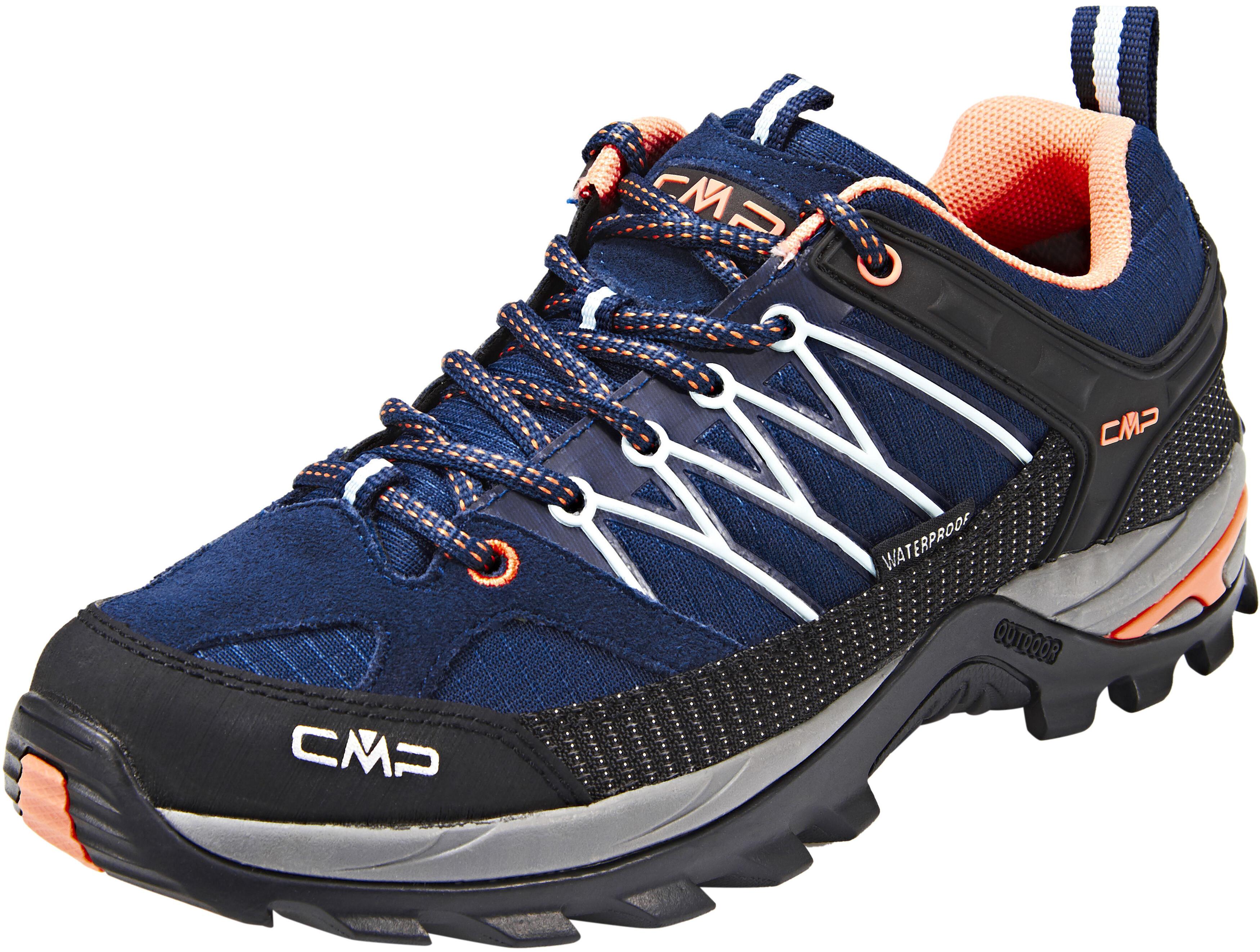 best cheap 642e5 22d8f CMP Campagnolo Rigel Low WP Scarpe da trekking Donna, black blue-giada-peach